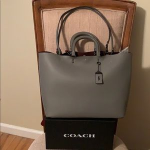 Coach Rogue Tote Bag Heather Grey